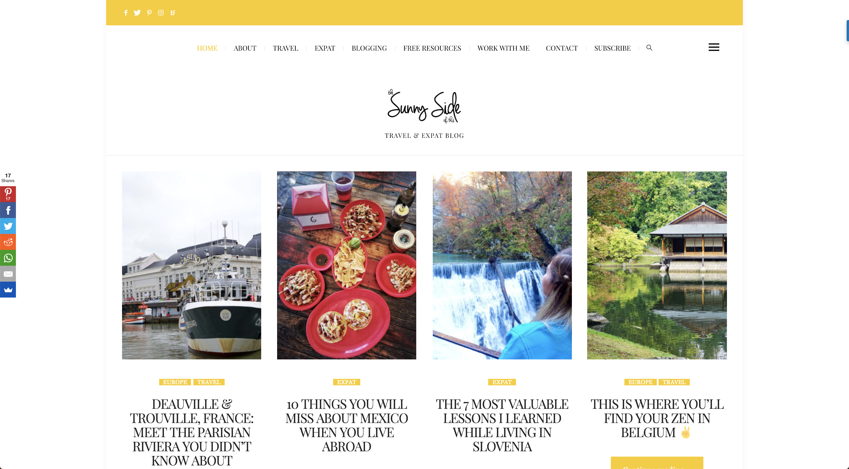the sunny side of this blog
